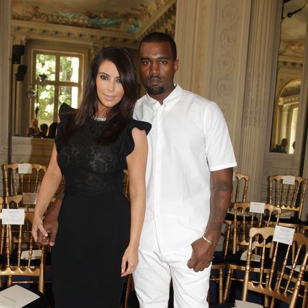 Kim Kardashian and Kanye West at Valentino
