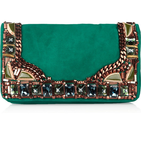Matthew Williamson Embellished suede clutch 995