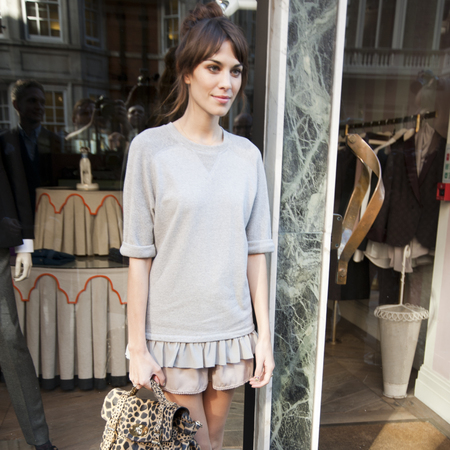Alexa Chung London Fashion Week SS13 Mulberry