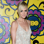 Ashlee Simpson sparkles in Temperley London dress