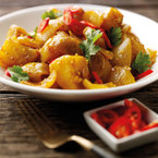 Veggie onion & potato curry