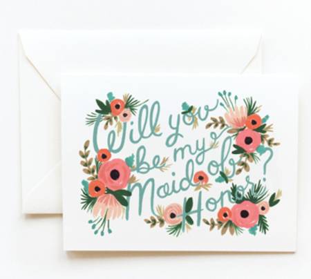 Rifle Paper Co maid of honor card