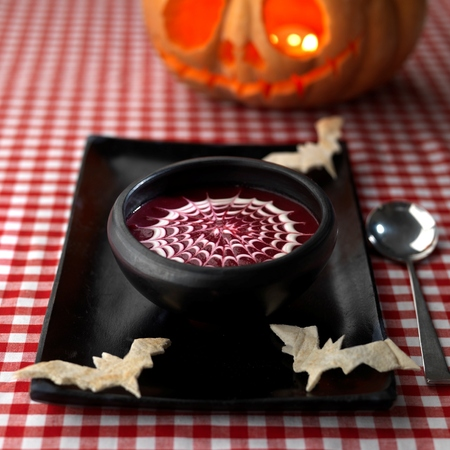 Blood beetroot soup Halloween