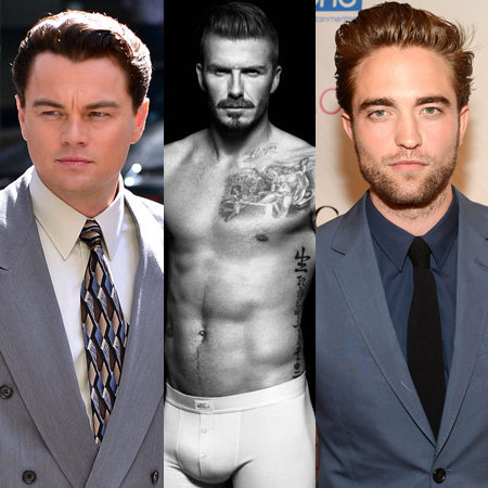 Leonardo DiCaprio, David Beckham and Robert Pattinson