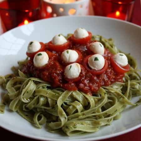 Green Slime Eyeball pasta
