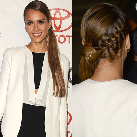 Jessica Alba's braided ponytail