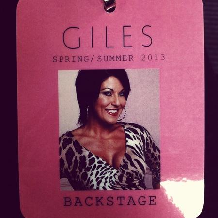 Giles backstage pass
