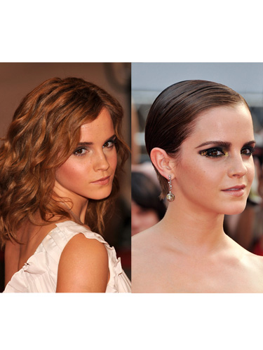 Celebrity long to short hair transformations