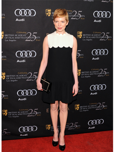 Michelle Williams wearing Victoria Beckham dress