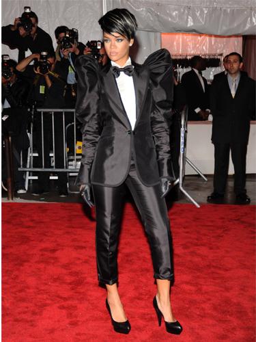 Rihanna wearing masculine suit