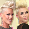 Miley Cyrus and Pink play style snap at MTV Video Music Awards