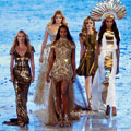 Supermodels Kate Moss, Naomi Campbell, David Gandy & more showcase best of British designers at Olympics Closing Ceremony