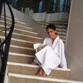 Victoria Beckham tweets pics from Chanel shoot with Karl Lagerfeld in Paris