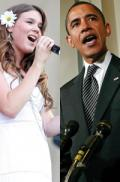 Barack Obama asks Joss Stone for a song