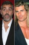 Clooney fights with male model