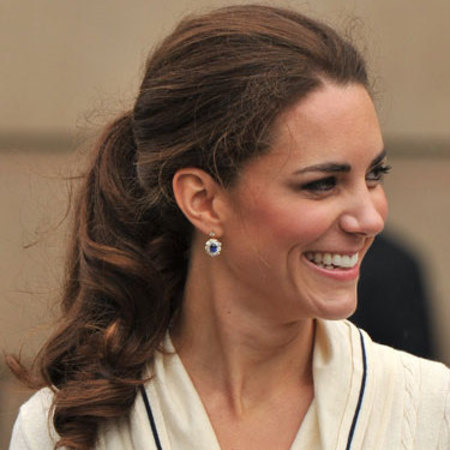 Kate Middleton's curly ponytail