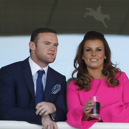 Coleen and Wayne Rooney at The Grand National Meet