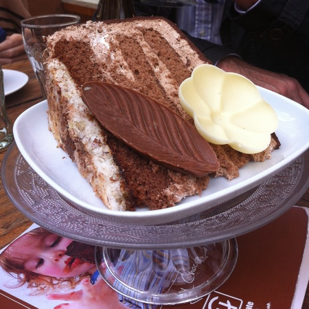 Luxembourg Choco House cake slice
