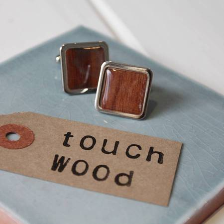 Touch wood lucky cufflinks