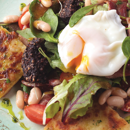 Clonakilty Black Pudding and Crispy Bacon Breakfast Salad