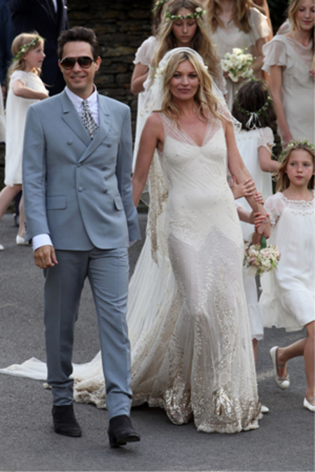 BEST KATE MOSS MOMENTS: Wedding Dress