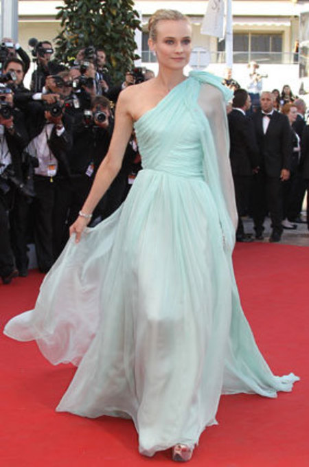 Diane Kruger wears mint green dress at Cannes, 2012
