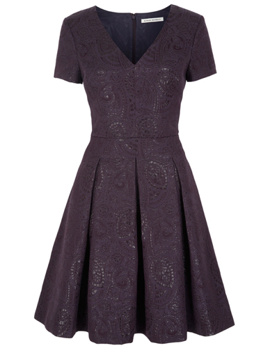 Banana Republic plum brocade dress