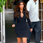 YAY OR NAY: Kim Kardashian's plunging LBD