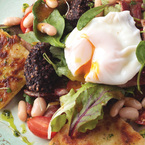 Black pudding and bacon breakfast salad recipe