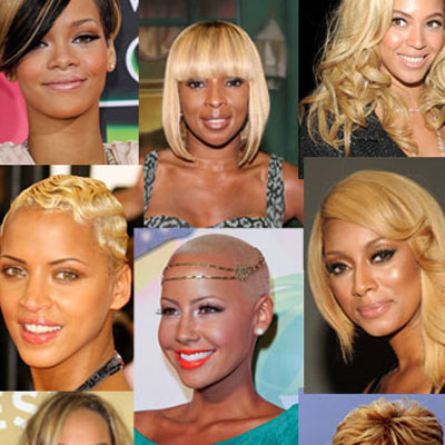 Black celebrities with blonde hair