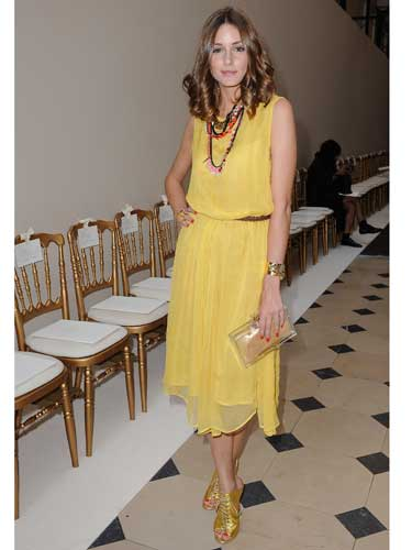 Olivia Palermo's canary yellow look
