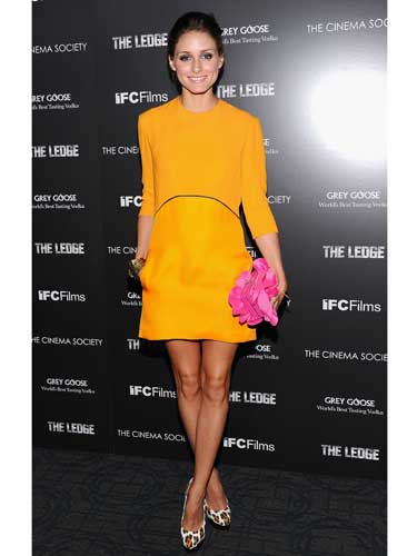 Olivia Palermo's mandarin tunic dress
