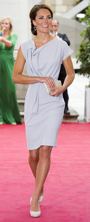 Kate Middleton dove grey dress