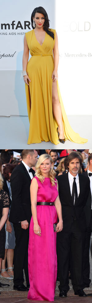 This week's best dressed with Kim Kardashian & Kirsten Dunst in colour brights