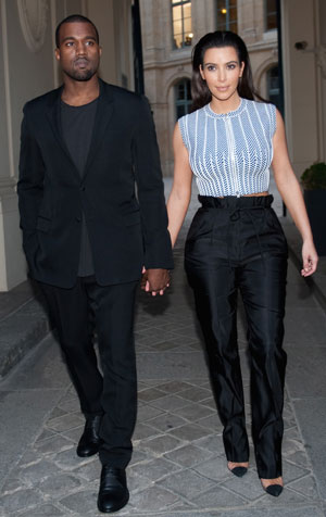 Kim and Kanye do matching trousers