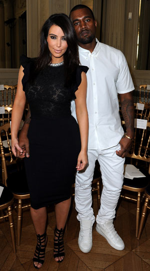 Kim and Kanye do black and white