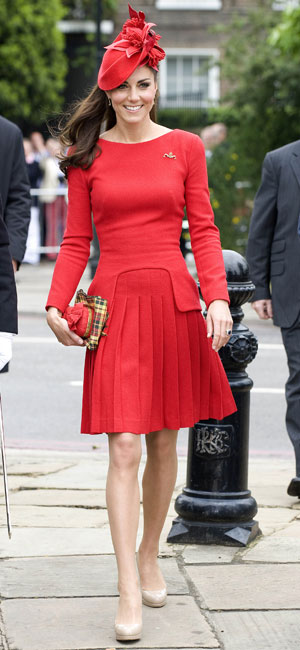 Kate Middleton in a skirt suit