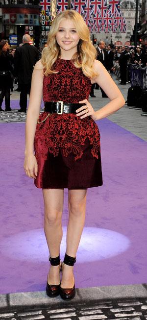 Chloe Moretz in a mini dress