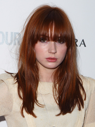 Karen Gillan rocks blunt-cut red hair