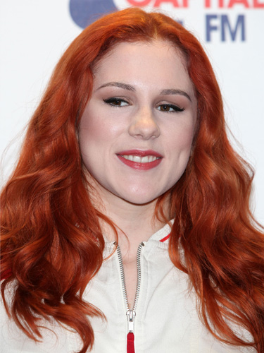 Katy B bright red locks