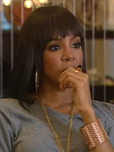 Kelly Rowland reacts to the news that Frankie Cocozza has left The X Factor