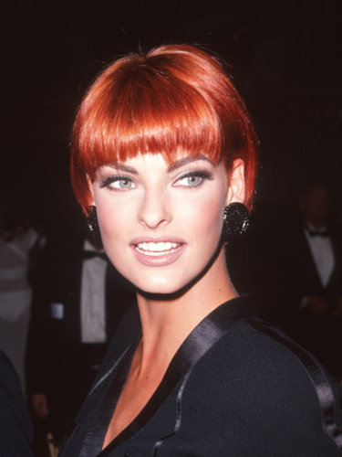 Linda Evangelista's red hairstyle