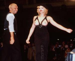 Madonna On The Catwalk