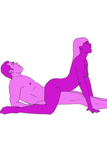 The reverse cowboy sex position