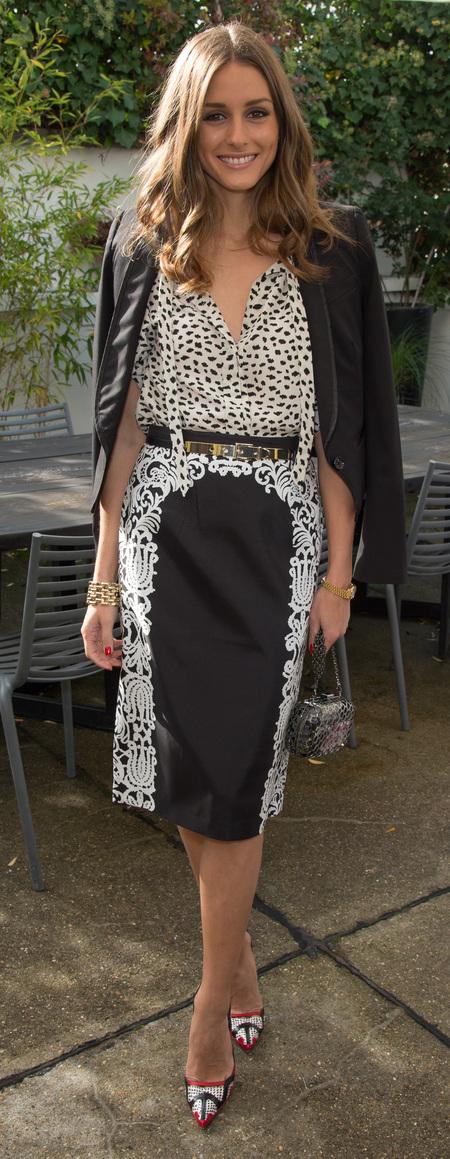 Olivia Palermo's monochrome look