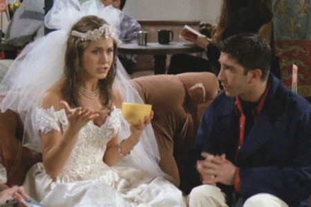 Jennifer Aniston in Friends wedding dress