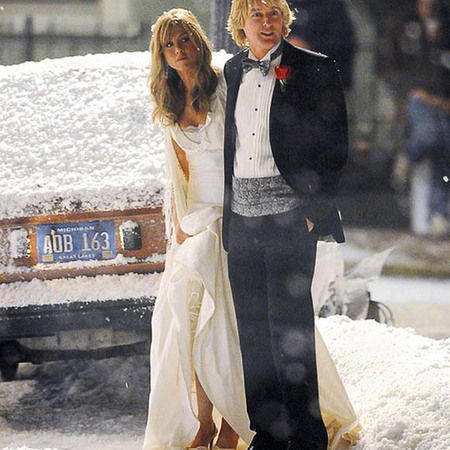 Jennifer Aniston's wedding dress in <em>Marley & Me</em>