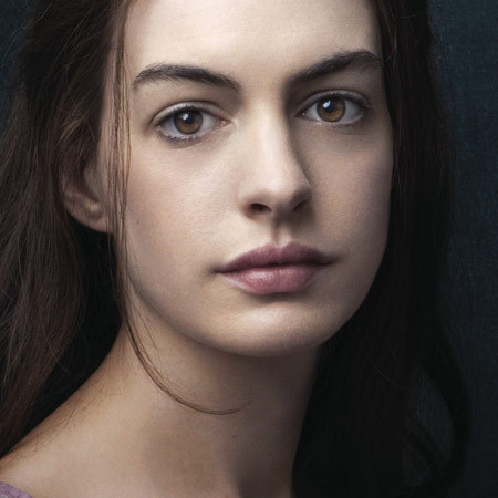 Anne Hathaway in Les Miserables poster