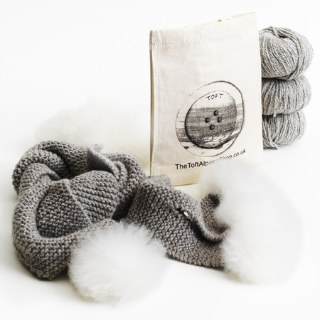 Toft alpaca shop knitting kit