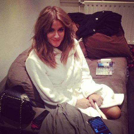 Caroline Flack dressing gown X Factor
